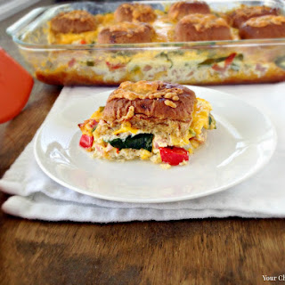 Ham and Cheesy Breakfast Strata