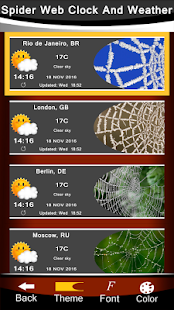 Spider Web Clock And Weather - náhled