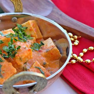 Healthy Vegan Tofu Tikka Masala.