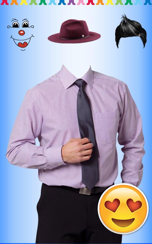 Download Chemise Hommes Avec Machine Costume Photo Cravate Apk