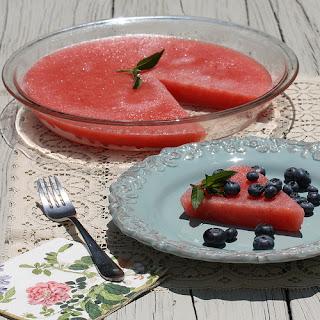 Watermelon Sorbet Pie