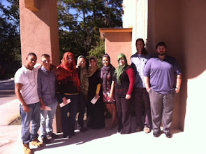Photo: Religious Studies students visit a mosque in Savannah - Fall 2012.