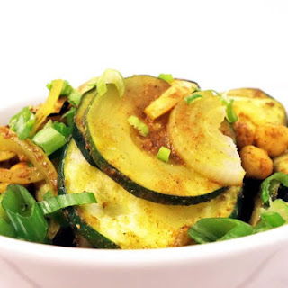 Warm Curried Zucchini and Chickpea Salad.