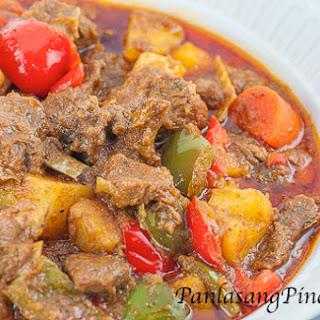 Kalderetang Kambing (Goat Stew).