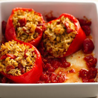 Skinny Slow-Cooker New Orleans-Style Stuffed Peppers