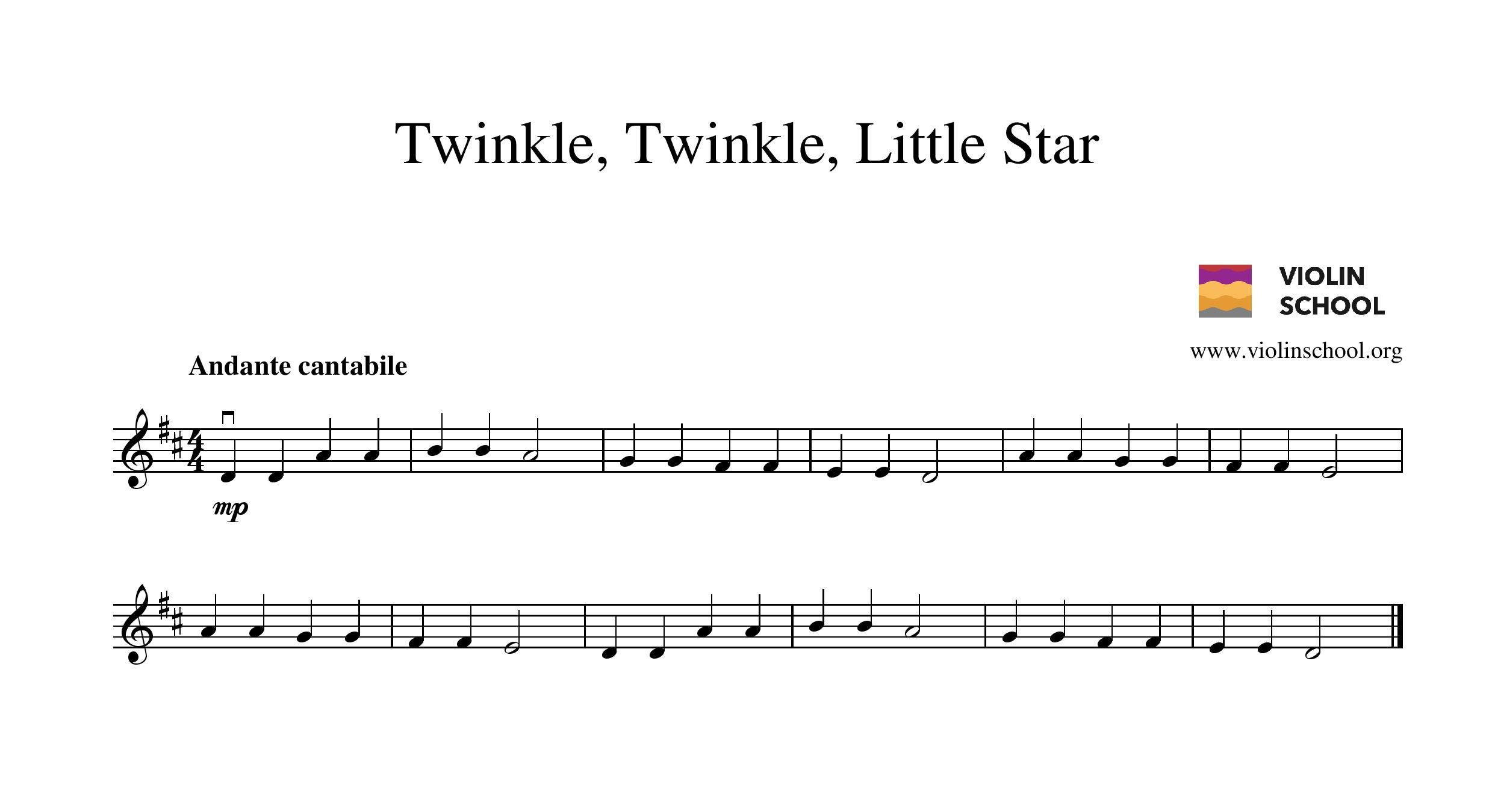 click here to download a free printable pdf copy of twinkle twinkle little star