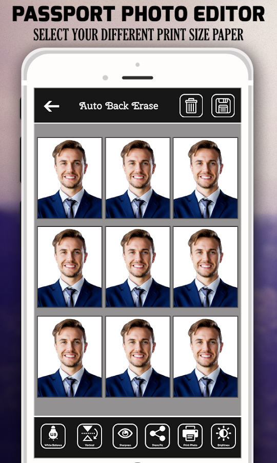 Passport size photo maker android apps on google play passport size photo maker screenshot ccuart Choice Image