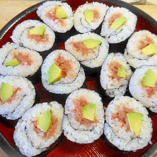 Sushi Roll with Avocado and Tuna