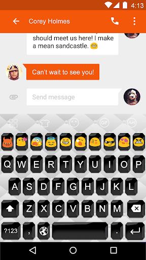 Black whisper -Emoji Keyboard