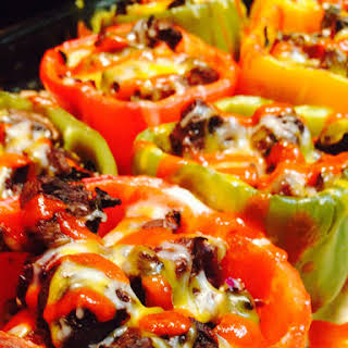 Steak Stuffed Bell Peppers.