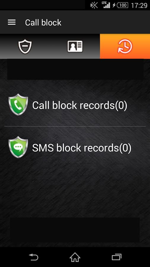 Call block - screenshot