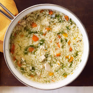 Chicken and Orzo Soup with Fennel.
