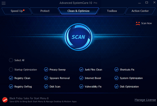 Phần mềm bản quyền Iobit Advanced SystemCare Pro 10