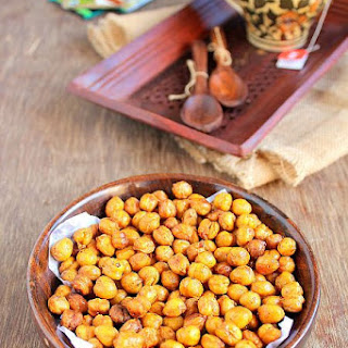 Spicy Oven Roasted Chickpeas Recipe | Low Calorie Snacks