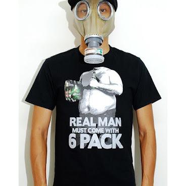 6 pack tshirt (black)