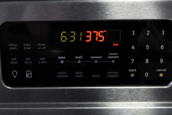 Set the oven to 375 to preheat.