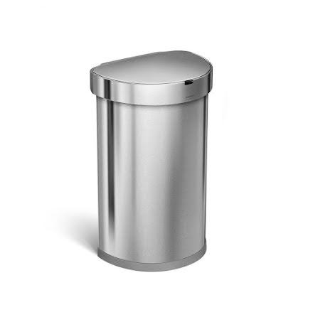 Sensorstyrd Soptunna Simplehuman  45 liter  borstat rostfritt stål