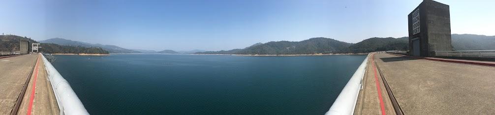 Shasta reservoir in Dam