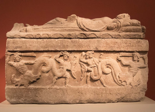 Sarcophagus of Arnth Churches at the Altes Museum in Berlin.