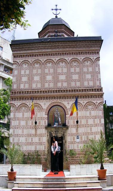 See the area of Bucharest Mihai Voda Monastery