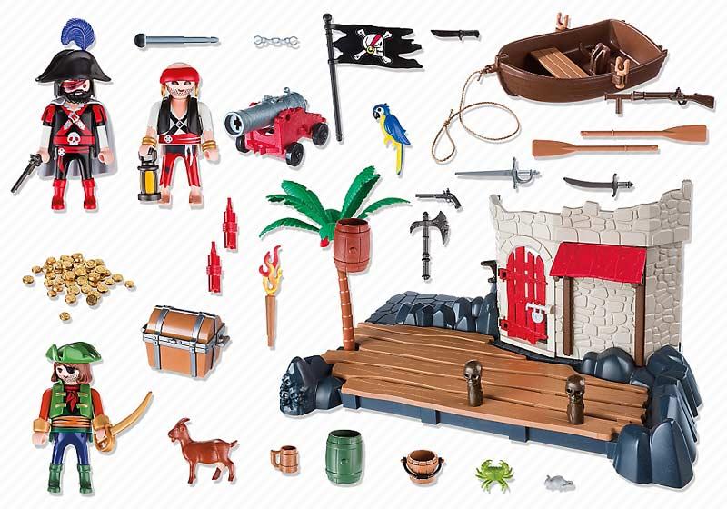 Contenido real de Playmobil® 6146 Superset Fuerte Pirata