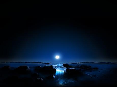 Blue Space Sunset Theme