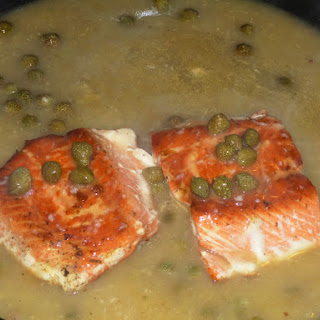 Sockeye Salmon with a Lemon and Caper Sauce
