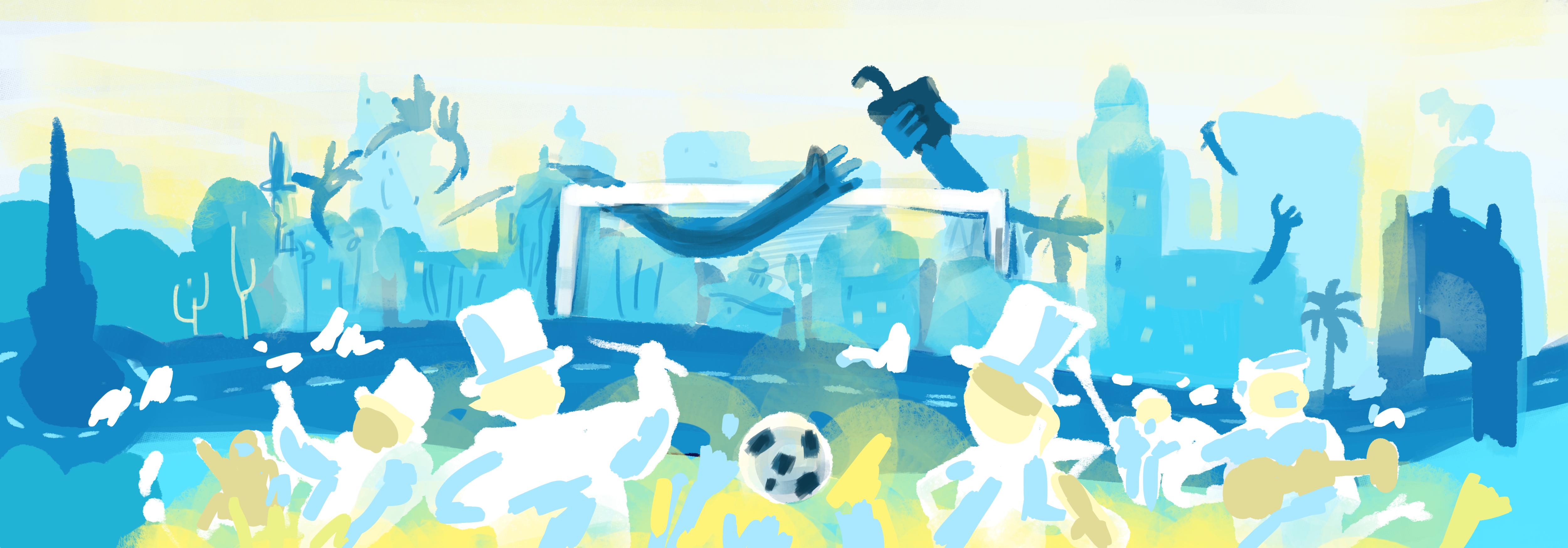 Uruguay World Cup Doodle Sketch