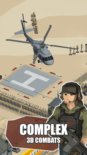 Idle Warzone 3d: Military Game - Army Tycoon apktreat screenshots 2