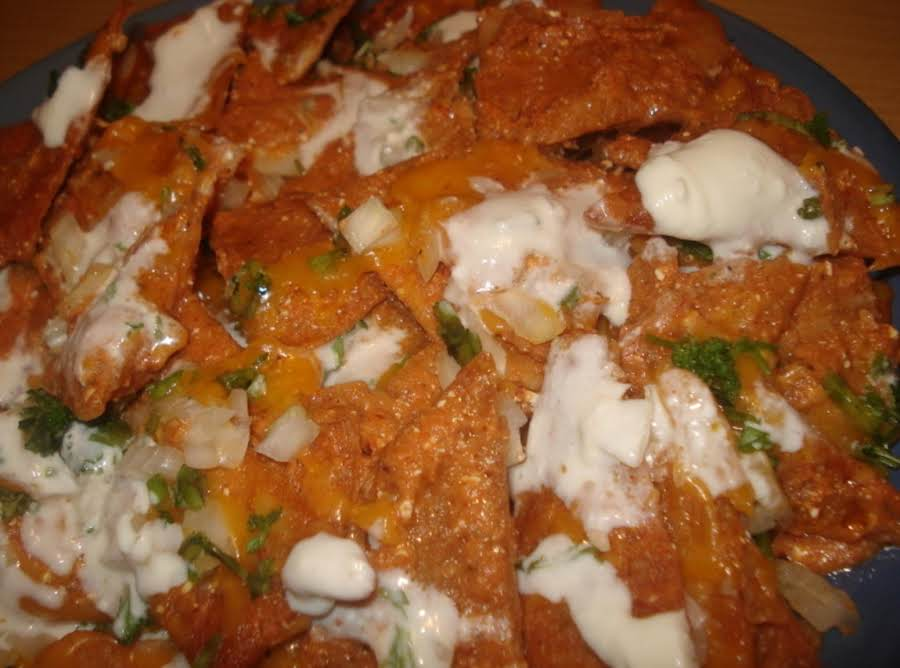 Chilaquiles Mexican Breakfast, Chilaquiles Desayuno Mexicano