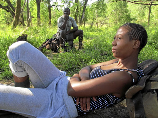 Ancestral land: Nokuphila Cele and game guard Bongimpilo Zondi in the Hluhluwe-Imfolozi Park during the making of Sisters of the Wilderness. Picture: SUPPLIED