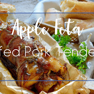 Apple Feta-Stuffed Pork Tenderloin.