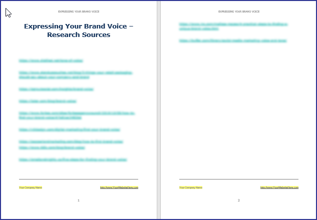 Expressing Your Brand Voice - Research Sources