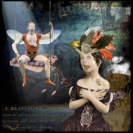 Bug Attack by Anita Elder - Digital Art People ( surprise, bugs, faces, open mouth, digital art )