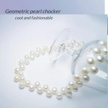 天然珍珠配銀鏈