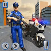 Police Moto Bike Real Gangster Chase
