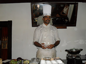 Photo: Chef demonstrating Keralan cuisine