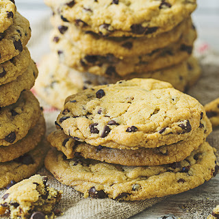 Gluten-Free Chocolate Chip and Cocoa Nib Cookies.