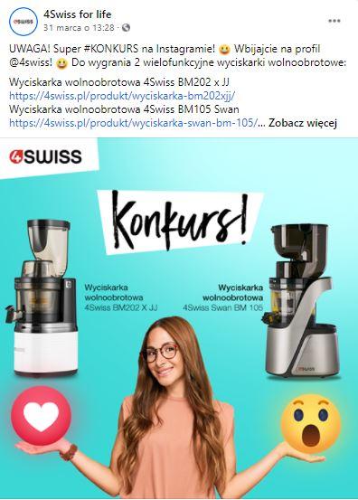 Swiss konkurs w social mediach