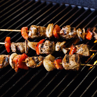 Montreal Grilled Pork and Pepper Kabobs.