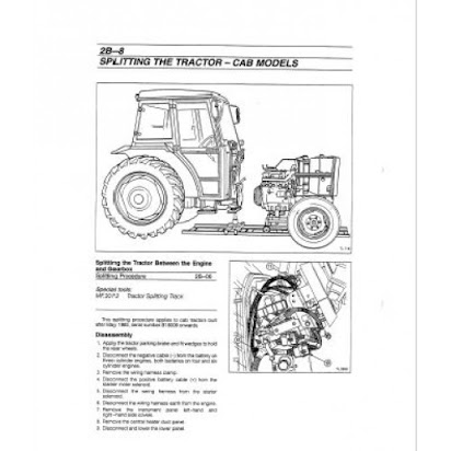 MASSEY FERGUSON 1040 1045 TRACTOR SERVICE REPAIR SHOP