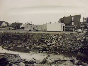 Photo: These businesses once stood where the Torrington Plaza now exists, along South Main Street by the river.
