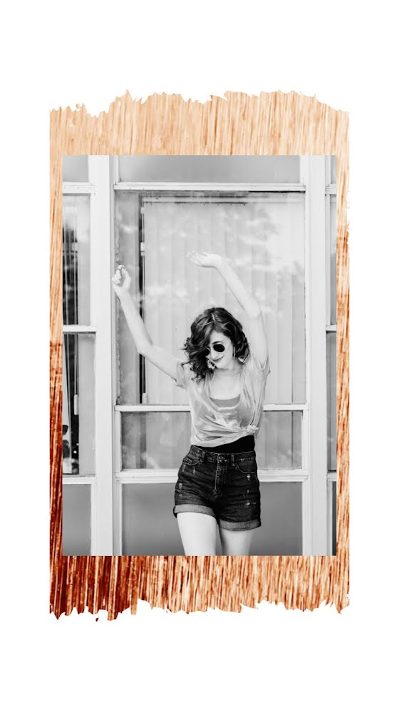 Black & White Portrait - Facebook Story Template