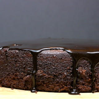 Six Minute Chocolate Cake with Chocolate-Balsamic Icing.