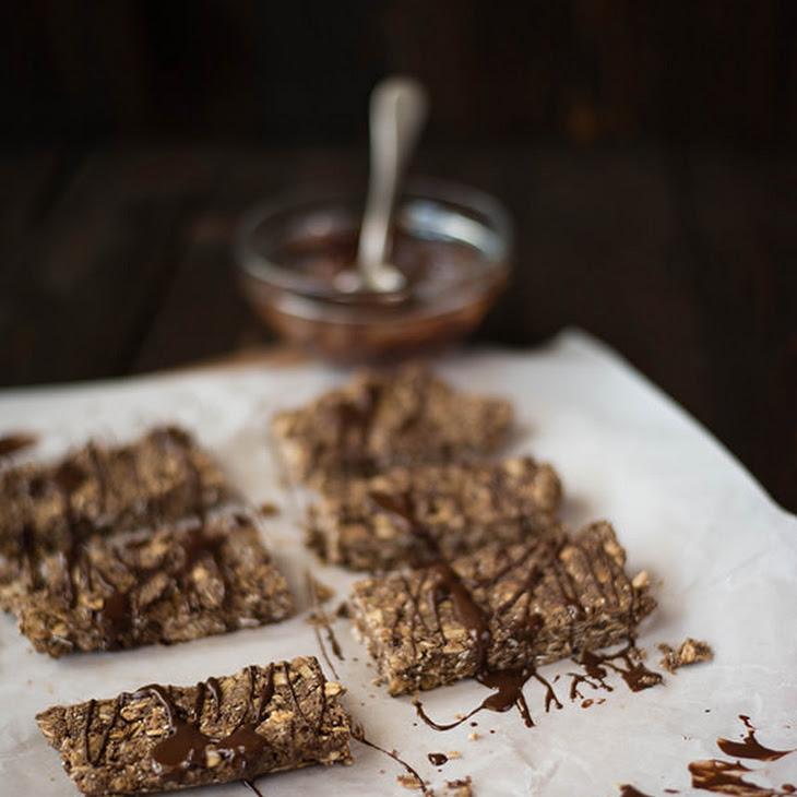 No-Bake Homemade Chocolate Peanut Butter Protein Bars