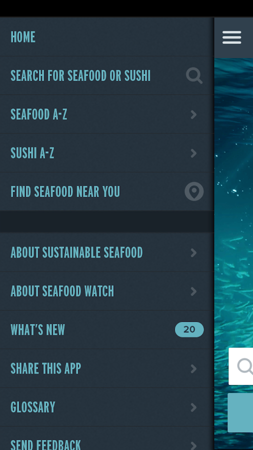 Seafood Watch- screenshot