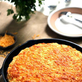 Cheddar and Cream Cheese Skillet Cornbread.
