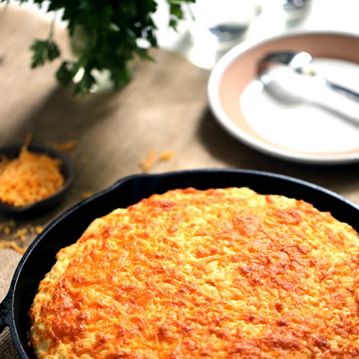 Cheddar and Cream Cheese Skillet Cornbread Recipe
