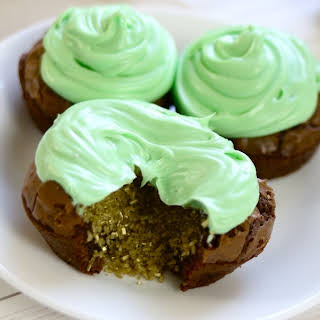 St Patrick's Day Brownie Cupcakes.