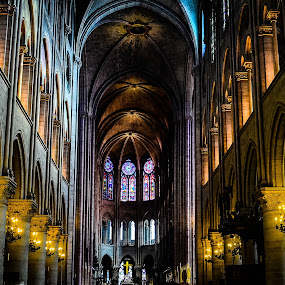 Inside Notre-Dame by Lori Louderback - Buildings & Architecture Places of Worship